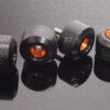 Axle Slider Kit, (Orange/Black) KTM RC and Duke Series-0